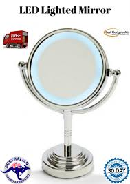 desktop led vanity lighted cosmetic mirror makeup magnifying stand