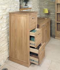 Three Drawer Filing Cabinet Wood by Baumhaus Mobel Oak 3 Drawer Filing Cabinet Amazon Co Uk Office