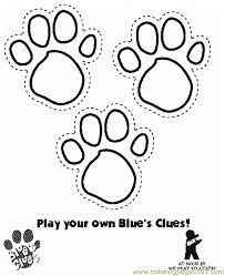 Bear Paw Print Coloring Page