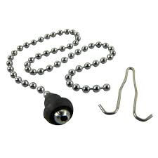 Rubber Sink Stopper With Chain by Danco 15 In Bead Chain For Stoppers 80039 The Home Depot