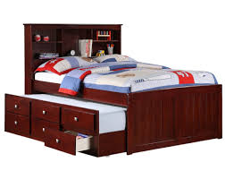 daybed wonderful brown trundle beds made of wood with rack for