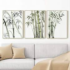 linie bambus grüne pflanze wohnzimmer dekoration malerei