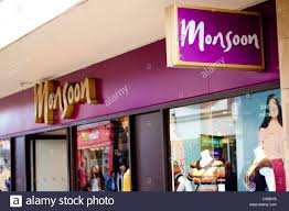Monsoon High Street Retail Shop Selling Brand Clothes That Are In With The Current Fashion Trends