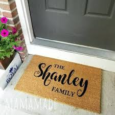 Personalized Door Mats Like This Item Custom Door Mats Outside
