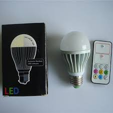 adjustable color temperature led bulbs 10w e27 with remote