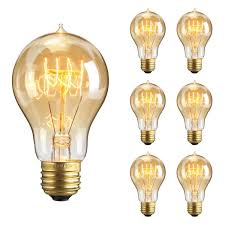 kingso 6packs vintage edison bulbs 60w a19 squirrel cage filament
