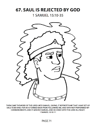 Coloring Page King Saul Save As