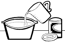 Baking Black And White Clipart
