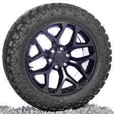 100 Chevy Truck Wheels And Tires Satin Black Snowflake 20 With 2855520 Nitto MT