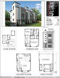 100 Modern Townhouse Designs 3 12 Story Plan E2028 B11