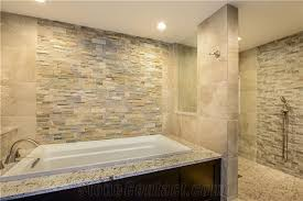 Bathroom Wall Cladding Materials by China Rust Yellow Slate Cultured Stone Stacked Stone Wall Panel