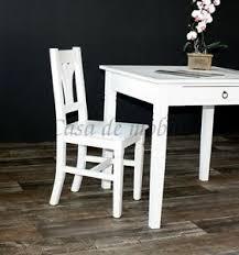 details zu holz stuhl fichte antik weiß shabby chic küchen stuhl eßzimmer stühle landhaus