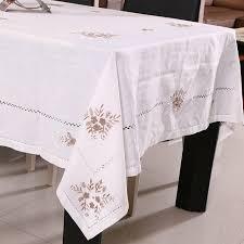 coton broderie nappe ronde pour la décoration de table de noël