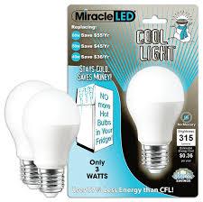 miracle led 604724 3 watt refrigerator and freezer light