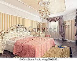 chambre a coucher de luxe moderne 3d rendering luxe chambre à coucher intérieur image