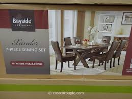 Chairs. Dining Table Sets Costco: Bayside Furnishings Xander Piece ... Costco 7 Piece Dning Set 499 Affordable Good Fniture Argos Small Sets Ukule Table And Bayside Furnishings Ding Room 6 Chairs Uk Luxury 25 Large Height Scheme Design Instore Fniture On Clearance Leather Couches Ding For Benches Inexpensive Mattress Eaging Counter With Reference Perfect Solution Your Foldable Stco Kitchen Table And Chairs The Is Made Of Solid Birch Pike Main 5 Pc W Saddle Seats 399 Bainbridge 9 Pc Extending Leafs 1399