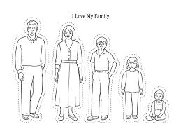 Clipart Family Members Of The Black And White Clipartxtras Kids Coloring Pages