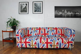 union jack pattern cotton cover for ikea sofas and chairs hipica