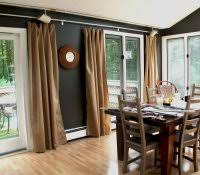 Dignitet Curtain Wire Pictures by Ceiling Mounted Curtain Track System Wire Rod Home Depot