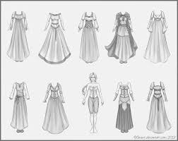 Medieval Clothes Tutorial Drawing