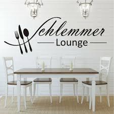 wandtattoo wandaufkleber schlemmer lounge esszimmer küche