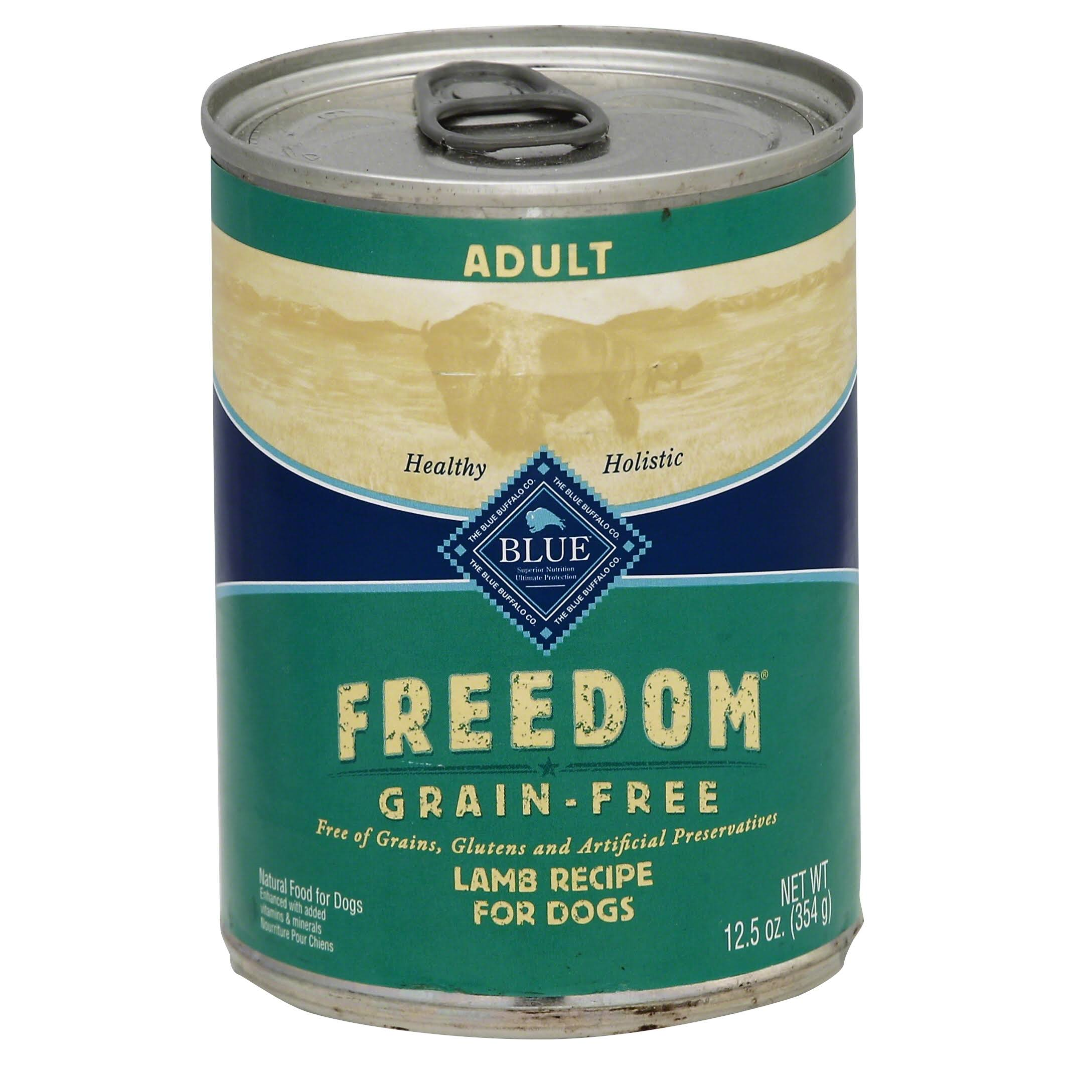 Blue Freedom Natural Grain Free Wet Dog Food - Lamb Recipe, 12.5oz