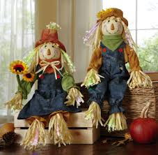Fiber Optic Pumpkin Head Scarecrow by Mr And Mrs Scarecrow Fall Sitters Harvest Decorations Http