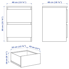 malm 2 drawer chest black brown 15 3 4x21 5 8 ikea