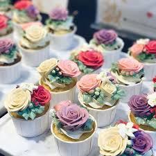 3D Floral Buttercream Cupcakes For The Opening Of History Whoos New Counter At Tangs VivoCity
