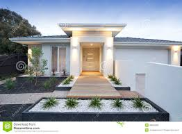 100 Contemporary Houses White House Exterior Stock Image Image Of