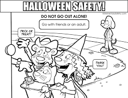 Coloring Halloween Safety
