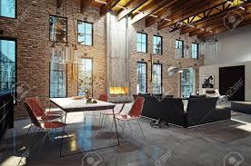 100 Modern Luxury Design Luxury Home Interior With Fireplace 3d Rendering Design