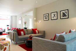 Romantic Red Living Room Colour Schemes Contemporary Modern By LLI Design