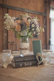 Rustic Themed Wedding Centrepieces Ideas Photo Img Source Diybride Blog 2013 05 08 Genevieve Seans Diy Retro Book Inspired