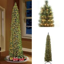 Pre Lit Pencil Slim Christmas Trees 9 7ft cashmere pencil christmas tree 7 ft pre lit cashmere