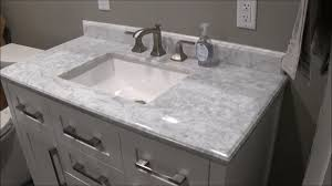 Menards Bathroom Vanities 24 Inch by Review Of Menards Ove White Malibu Vanity And Carrara Marble