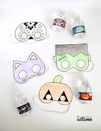 What A Great Idea For Classroom Halloween Parties Free Printable Masks That Kids Can
