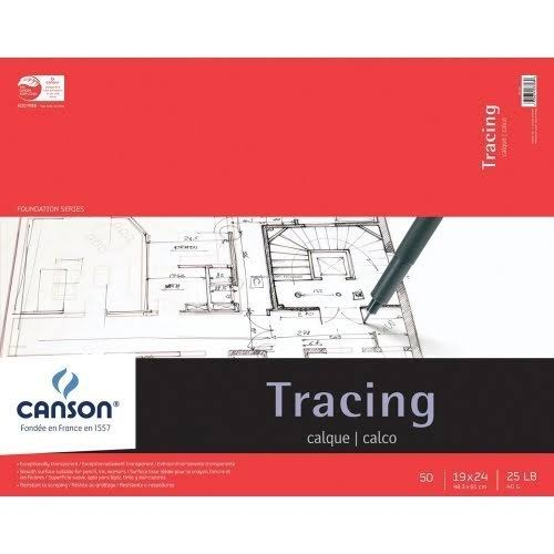 "Canson Foundation Tracing Pad - 50 Sheets, 19""x24"""