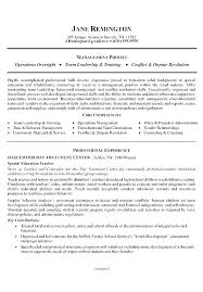 Career Change Resume Profile Statement Examples For Example Executive Summary Sample Resumes Improve Professional Exa