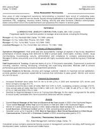 Resume Examples Retail Assistant Manager Sample