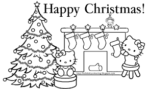 Hello Kitty Coloring Pages Christmas 1