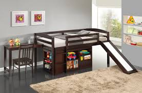 White Low Loft Bed With Desk by Bedroom Design Low Loft Bed With Slide Make Bedroom And