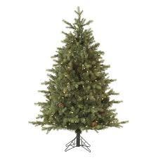 9ft Pre Lit LED Artificial Christmas Tree Full Mountain Fir