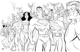 Online For Kid Dc Super Heroes Coloring Pages 24 On Print With