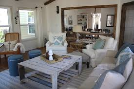 Rustic Sunroom Coastal Living Room