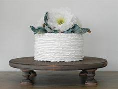 Rustic Wedding Cake Stand Cupcake Round Country Wooden Grooms E Isabella Designs Featured In Martha Stewart Weddings