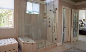 a range of porcelain glass and mosaic tile create a sophisticated
