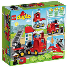 Amazon.com: LEGO DUPLO Town Fire Truck 10592 Buildable Toy For 3 ...