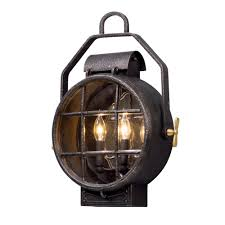 troy lighting point lookout 2 light aged silver with polished