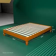 Wood Platform Bed Frame Queen by Wooden Deluxe Platform Bed Frame Zinus